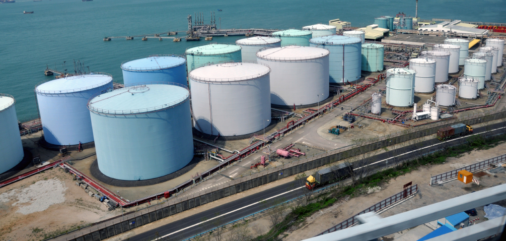 ARA oil storage tanks are fully booked but only half full